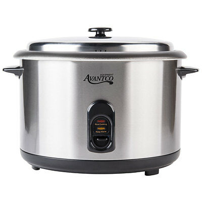 New Avantco Commercial Countertop Electric Rice Cooker Steamer Warmer Restaurant