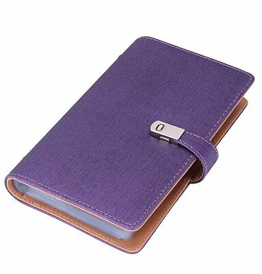 Name Card Book Holder Business Card Organizer for 240 Cards purple
