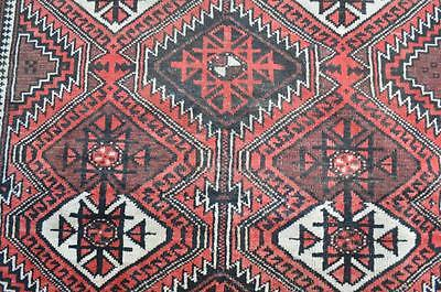 3'5x5'3 1940s Genuine Antique Persian Tribal Oriental Hand Knotted Wool Area Rug