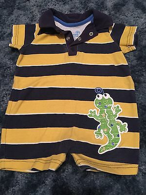 Okie-Dokie Boys Romper 6-9 Months Summer Outfit