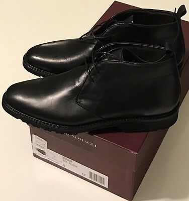 NIB BRUNO MAGLI Men's WENDER BLACK LEATHER CHUKKA ANKLE BOOTS Size US 9