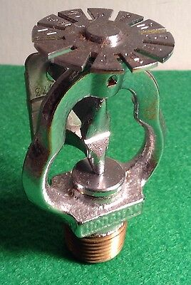 Vintage Brass Hodgman 843A Ssp2 Pendant Fire Sprinkler Head 165 Degrees 1973