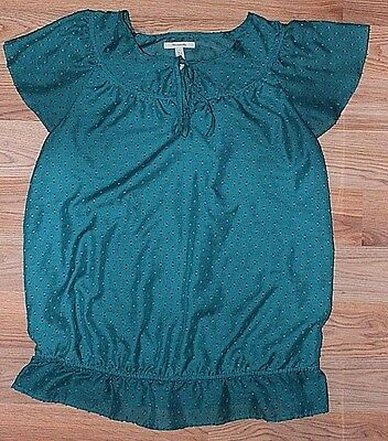 Old Navy Maternity Teal Short Sleeve Blouse -Size M1