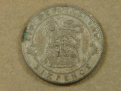 1924 Great Britain 6 Pence Silver Coin
