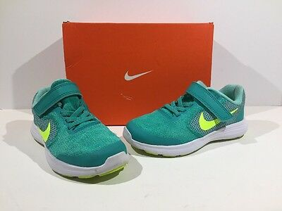 Nike Toddler Size 11 Revolution 3 Teal Athletic Running Shoes Sneakers Z7-251