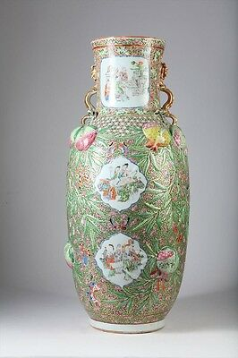A Chinese  Famille-Rose  'three Abundances' Vase, Qing Dynasty, Good Condition.