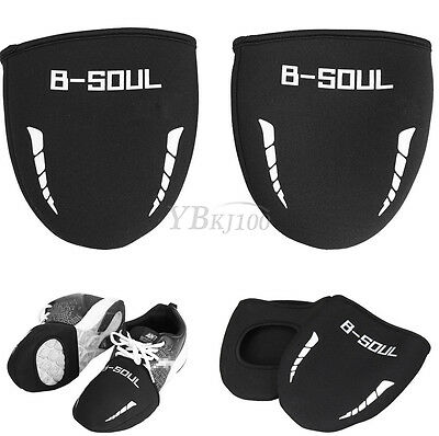 1 Pair Winter Thermal Warm Cycling Black Half Shoe Covers Bicycle Bike Sports