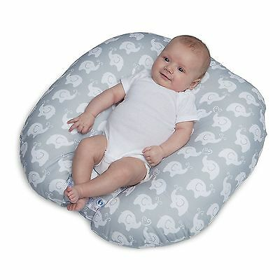 Boppy Newborn Lounger Pillow Infant Baby Support - Elephant Love Gray