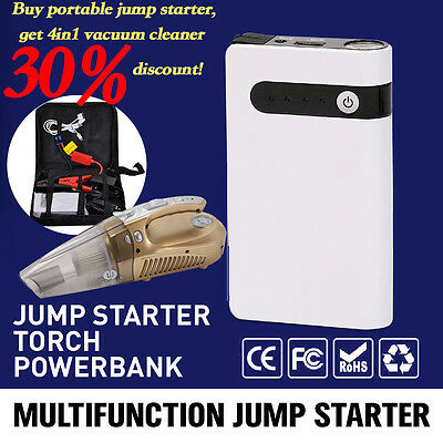 Portable 20000mAh Car Jump Starter Power Bank Vehicle Battery Charger Engine New