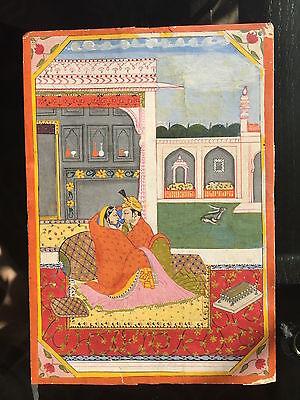 Miniature Painting (INDIA, Hand Painted): Love Theme