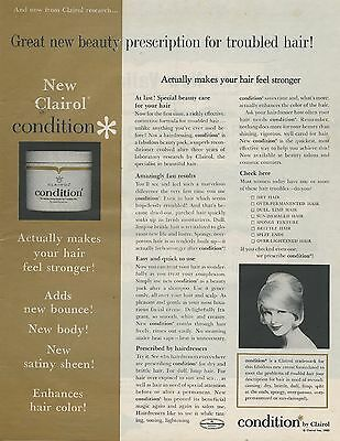 1963 Condition by Clairol Gold Vintage Color Photo Print Ad