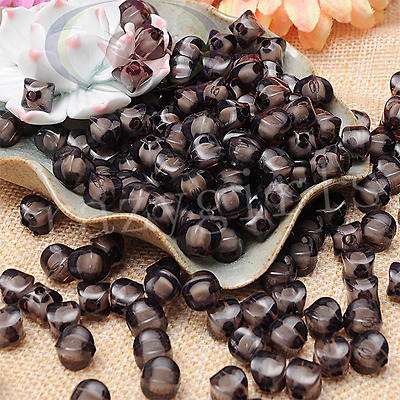 Lot 50pcs Black Watermelon Acrylic Beads  In Baeds For Jewelry Finding DIY 10mm
