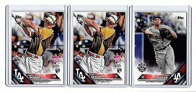Corey Seager 2016 Topps Update RC 3 card lot