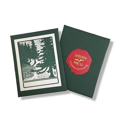 Saturn Press Handmade Letterpress Forest Bookplates, Garden Nature Made in the
