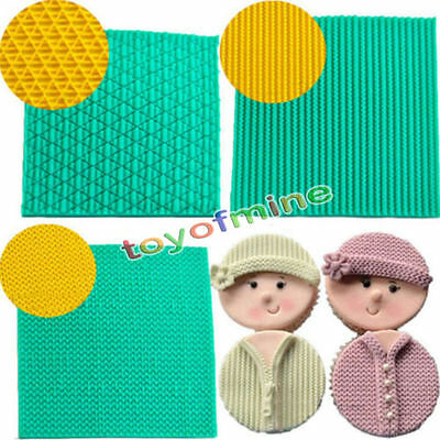Baby Silicone Cake Mold Knitting Texture Chocolate Sugar Fondant Mat Baking Tool