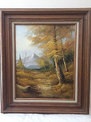 Vintage Rustic Scenic Oil Painting with Frame # 2