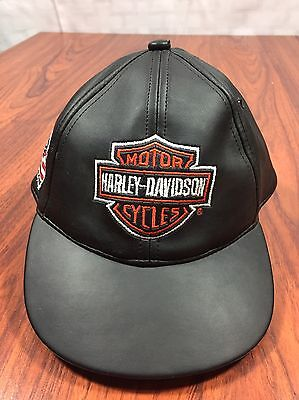 Harley Davidson Leather Hat 5 Panel Born To Ride by Harley Davidson Girls Boys