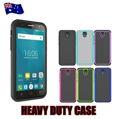 Shockproof Heavy Duty Tough Armor Strong Cover Case for Optus X Smart