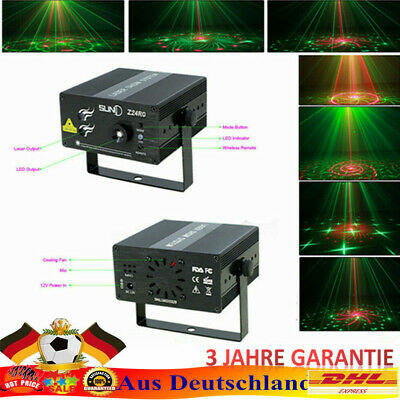Proiettore Laser Projector Effetto Luci Disco Stage lighting 3 Lens 24 Patterns