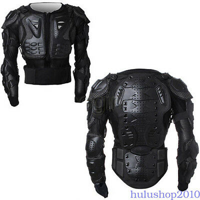 Full Motorcycle Body Armor Jacket Motocross Back Shoulder Protector S M L XL