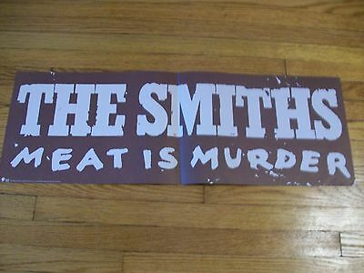 """THE SMITHS Meat Is Murder 23"""" X 8"""" ORIGINAL 1985 PROMOTIONAL POSTER"""