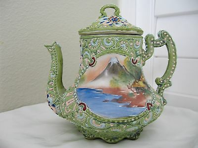 Antique Nippon Moriage Tea Pot