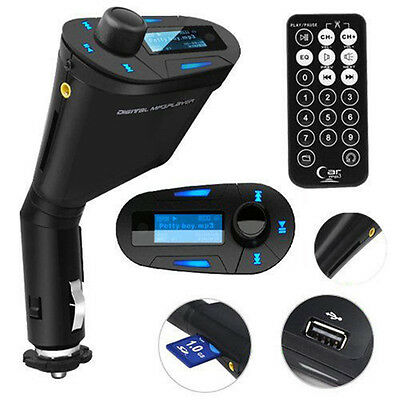 Wireless Handsfree Car Kit LCD FM Transmitter Modulator USB SD MMC MP3 Remote
