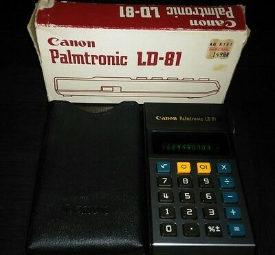 Canon Palmtronic LD-81 Vintage Japan calculator with VFD display . WORKS