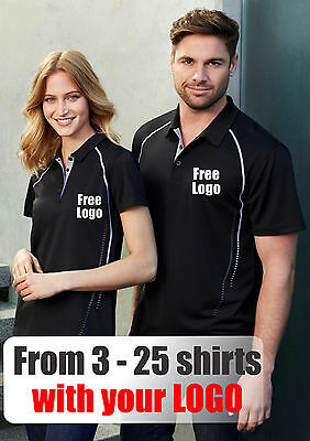 From 3 - 25 shirts Ladies Resort Polo with Your Embroidered LOGO (Biz P9925)