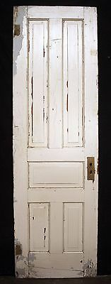 "26""x84"" Antique Vintage Victorian Solid Wood Wooden Interior Door 5 Raised Panel"