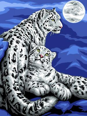 Grafitec Printed Tapestry/Needlepoint Canvas – Snow Leopards