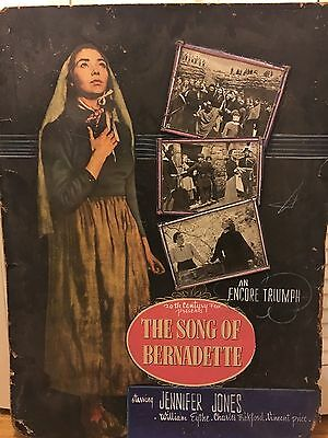 The Song of Bernadette Movie One of a Kind die-cut 29x39 standee '43