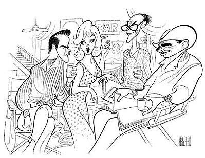 "AL HIRSCHFELD, THE MISFITS ""ON THE SET"" Hand Signed Limited Edition Lithograph"