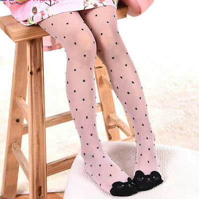 Cartoon Cat Toddler Kids Girl Tights Stockings For Baby Pantyhose Summer 1-9Y