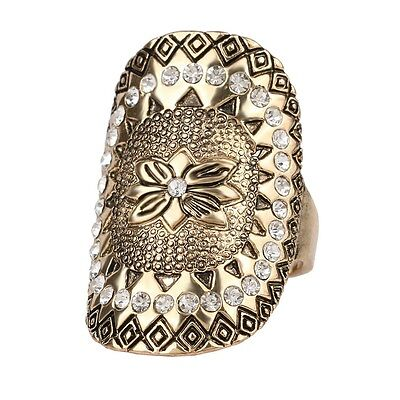 Cubic Zirconia Rhinestone Midi Ring Bezel Setting Ancient Style Statement Ring!!