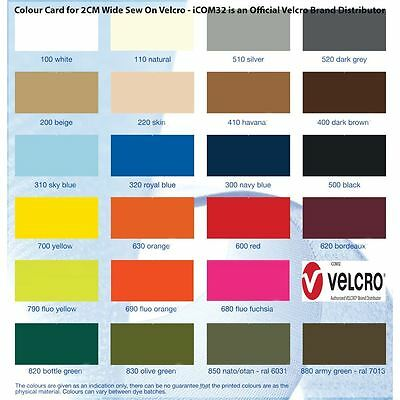 Alfatex® Brand by VELCRO® Companies 2CM Coloured Sew On Velcro Stitch On Tape