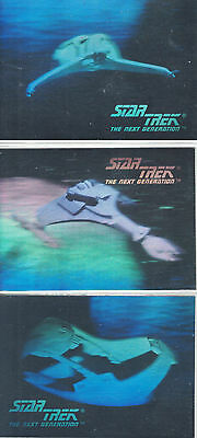 Star Trek Hologram 1992 0H1, 0H2,0H3 Set
