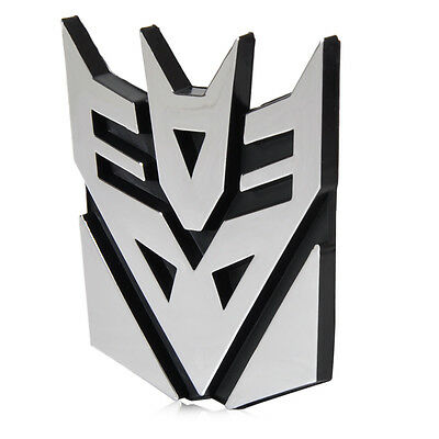 3D Car Sticker Logo Protector Transformers Deception Emblem Badge Graphics Decal