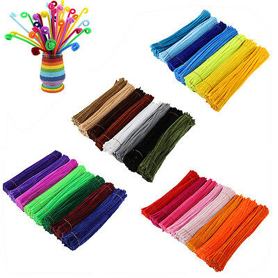 100pcs Chenille Stems Pipe Cleaners Kids Baby Craft Educational Toys Twist Rods