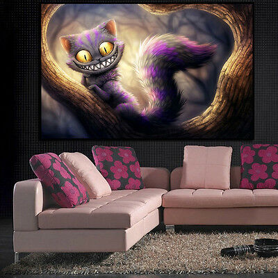 5D DIY Diamond Painting Smile Cat Animal Embroidery Craft Cross Stitch Decor