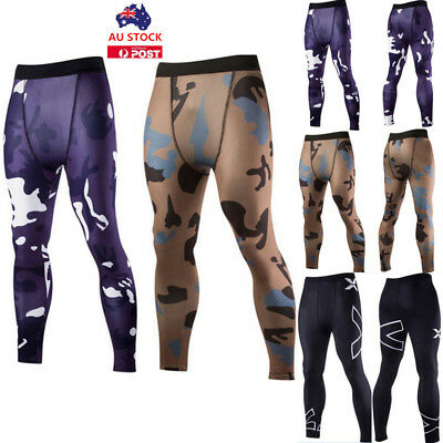 Mens Sports Gym Skin Tights Compression Base Under Layer Pants Athletic Apparel