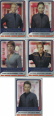 Star Trek Enterprise Season 3 Clear Cards: CC1, CC2, CC3, CC4, CC5