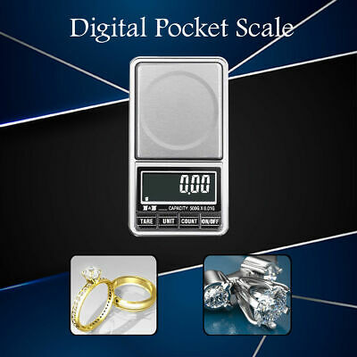 0.01 to 1000g Electronic Digital Pocket Scale for Weighing Gold Herbs Jewellery