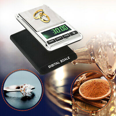Electronic Mini Pocket Scale Digital LCD Display Jewellery 0.01g to 1000g Weight