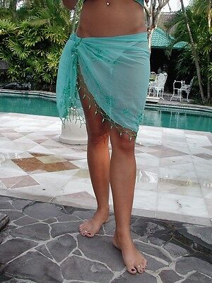 Job lot of 100 Brazilian style bikini wraps / shawls - Variety of colours