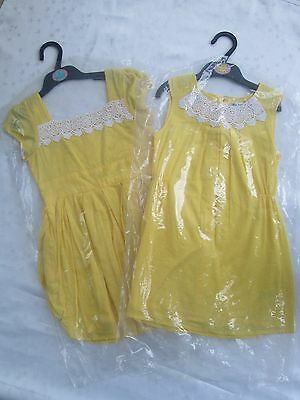 Wholesale Ex M&S Autograph Girls Yellow Dress, Ages 6-14, Job Lot of 30 Items
