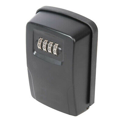 OUTDOOR WALL MOUNTED SAFE KEY BOX WITH LOCK & WATERPROOF COVER for HOME CAR KEYS