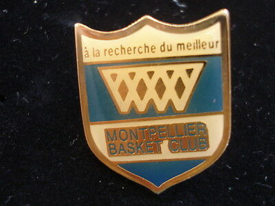 PINS RARE VINTAGE SPORT MONTPELLIER BASKET BALL CLUB wxc b