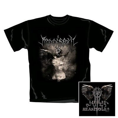 "NEW AND OFFICIAL MOONSPELL ""Life is meaningless"" BLACK UNISEX T-SHIRT SMALL"