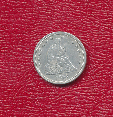1878 Seated Liberty Silver Quarter **nice Circulated Quarter** Free Shipping!